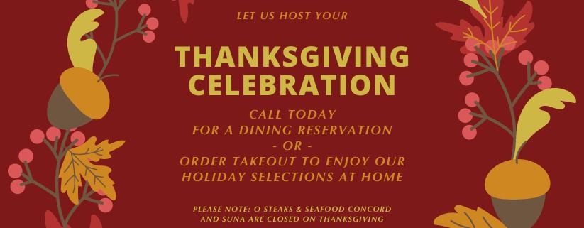 Enjoy Thanksgiving Your Way!