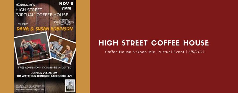 High Street Coffee House & Open Mic on Zoom